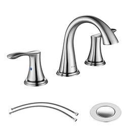 PARLOS Widespread 2 Handles Bathroom Faucet with Pop Up Sink