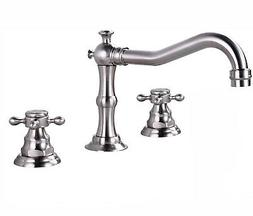 "Widespread 8"" Brushed Nickel Bathroom Faucet Sink Mixer Tap"