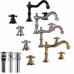 Widespread Bathroom Basin Faucet Dual Handles Sink Mixer Tap
