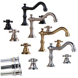 Widespread Bathroom Basin Sink Faucet Swivel Spout Waterfall