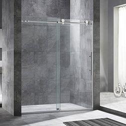 """WOODBRIDGE Frameless Sliding Shower Door, 56""""-60"""" Width, 76"""""""