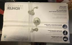 Kohler Worth Single-Handle Shower Kit Brushed Nickel R76258-