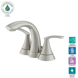 "Moen WS84550SRN Darcy 4"" Centerset 2-Handle Bathroom Faucet"
