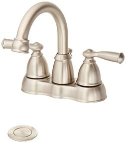 Moen WS84913SRN Banbury Two Handle Lavatory Faucet, 4, Brush