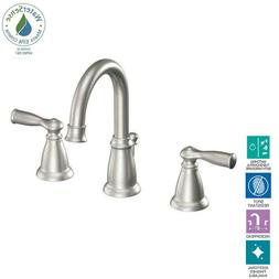 Moen WS84924SRN Banbury Two-Handle High Arc Bathroom Faucet,